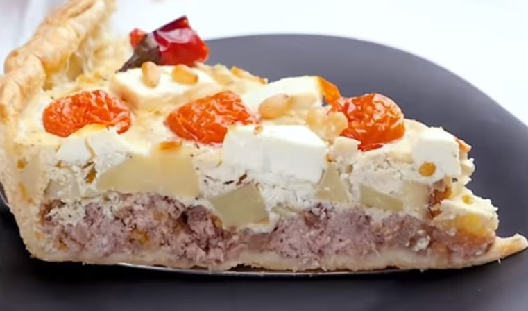 Восхитительно аппетитный греческий пирог с фаршем