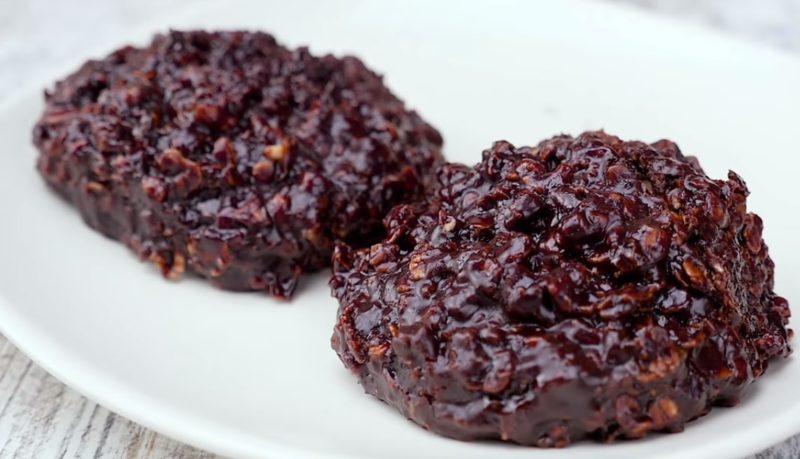 Обалденное шоколадно-овсяное печенье