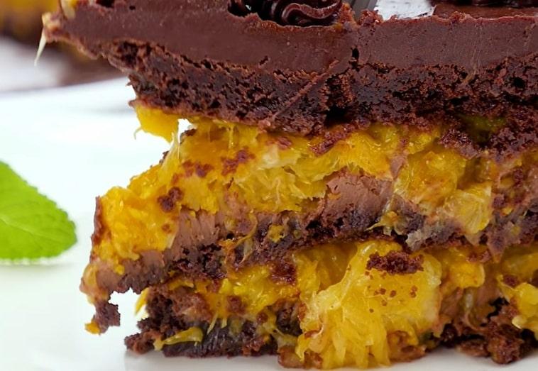 Бесподобный шоколадно-апельсиновый торт