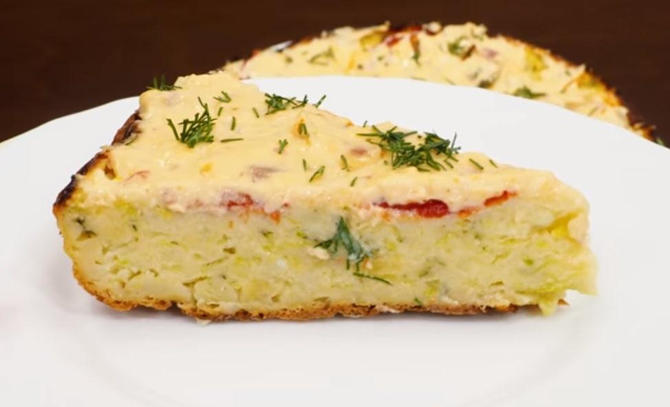 Готовим в мультиварке: отменный закусочный пирог из кабачков