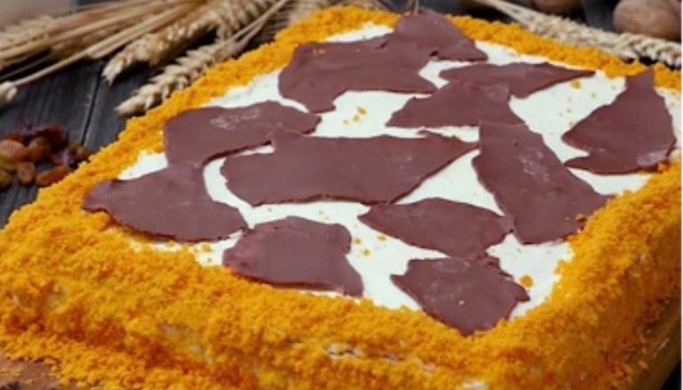 "Яркий тортик ""Сахара"""