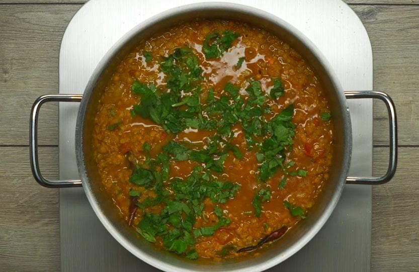 """Вегетарианский суп-пюре """"Индийский дал"""""""