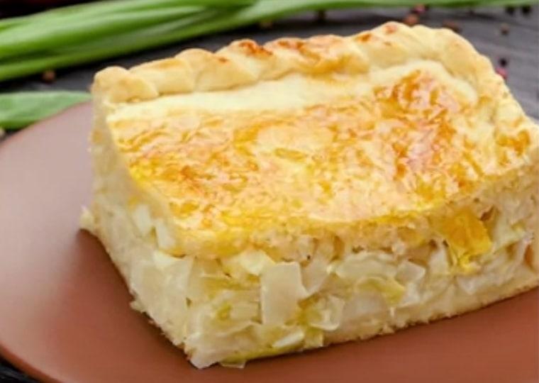 Отменный пирог с капустой и яйцом