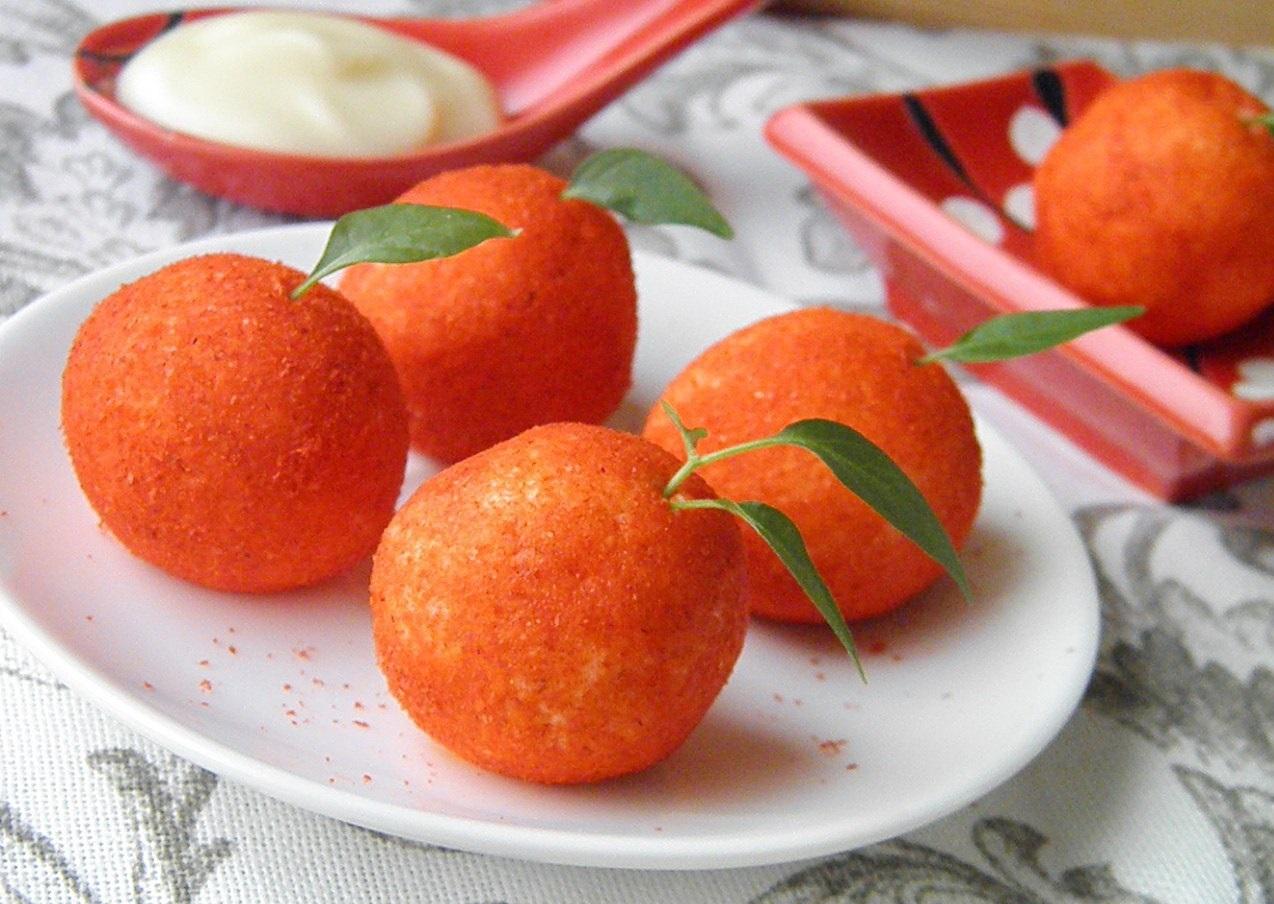 Невероятная закуска на праздничный стол-сырные шарики с оливками и паприкой