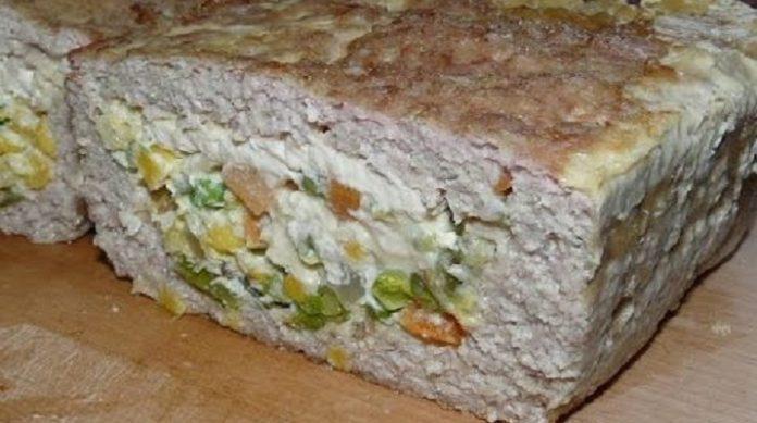 Изумительный мясной хлеб с начинкой