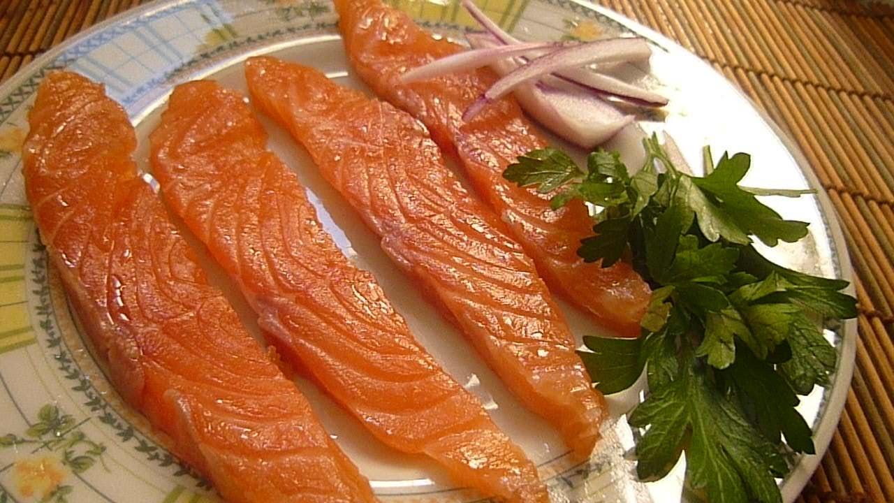 Засаливаем красную рыбу-очень быстро, просто и вкусно
