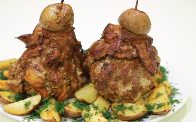 Новогодняя мясная елочка: оригинальный рецепт на праздничный стол