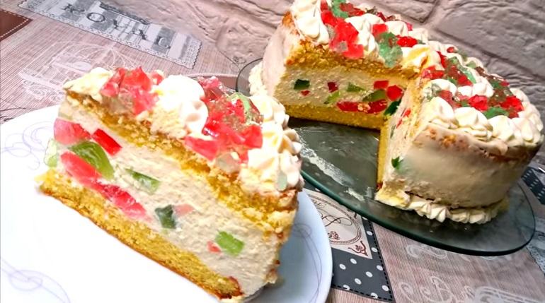 Потрясающий бисквитный торт «Феерия»: отличный десерт к чаю