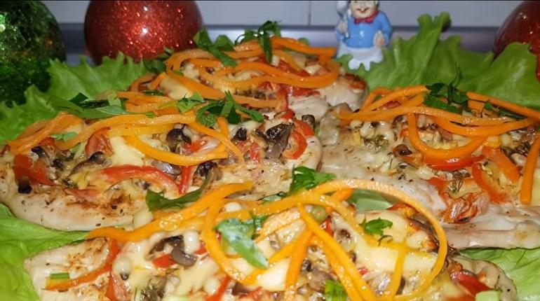 Праздничное мясо под овощной шубой: вкусно, вкусно и еще раз вкусно!