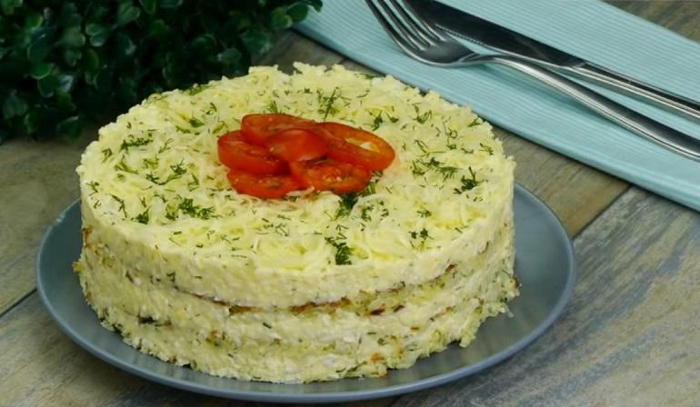 Закусочный торт из капусты: сытное и вкусное блюдо!