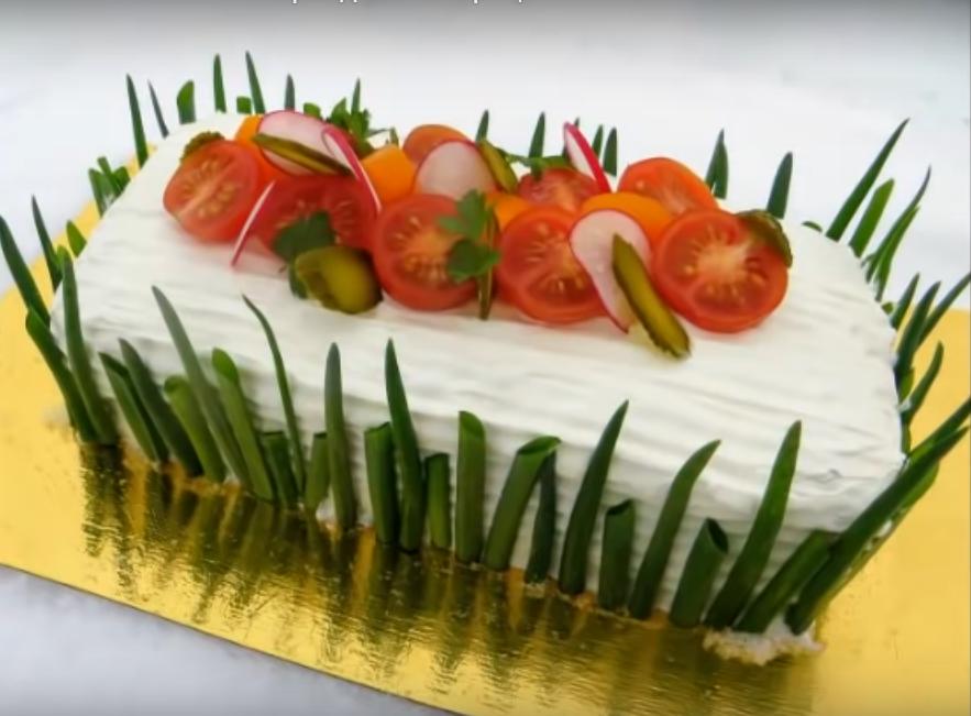 """Мясной """"Наполеон""""-праздничный рецепт"""
