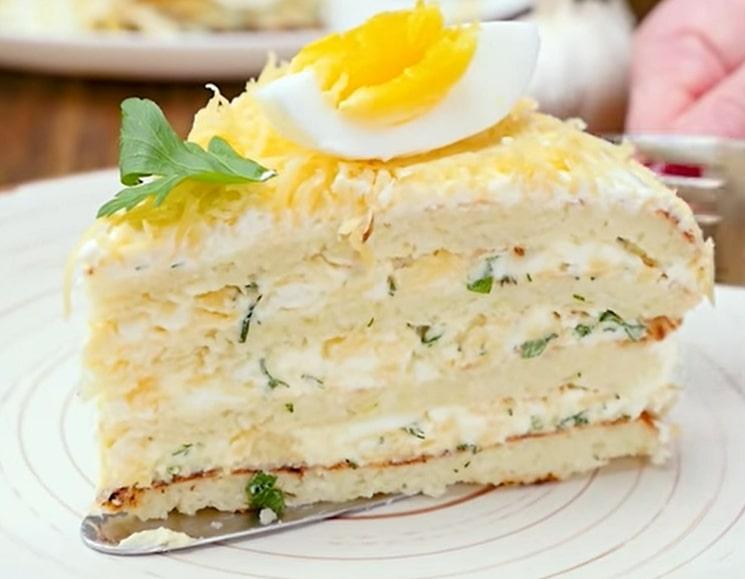 Оригинальный торт с капустой