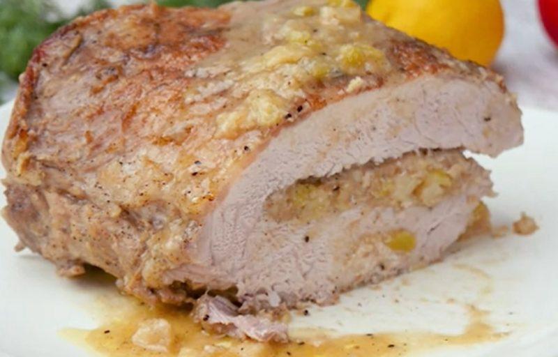 Обалденная фаршированная свиная корейка