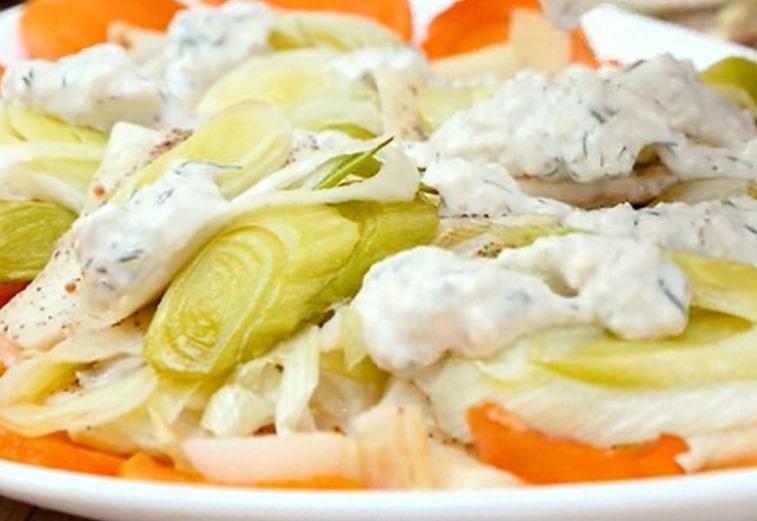 Вкуснейшая рыба под сливочным соусом
