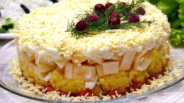 Безумно вкусный салат «Принцесса»:  потрясающе красивая закуска!