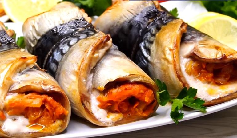 Фаршированные рулеты из скумбрии: шедевр праздничной кулинарии
