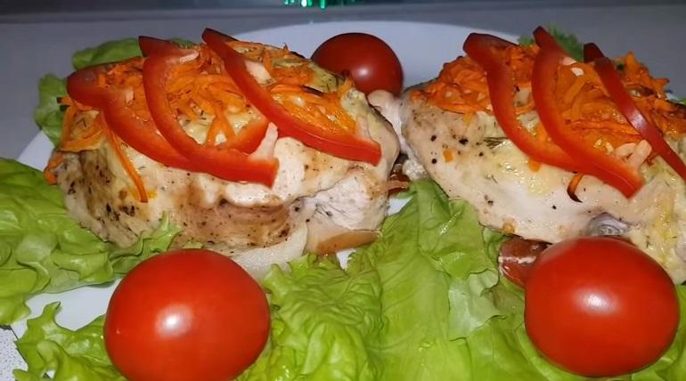 Нежная фаршированная куриная грудка: горячее блюдо к любому столу
