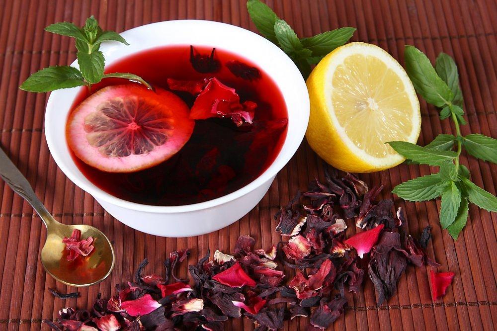 Восхитительный чай с каркаде и цитрусовыми