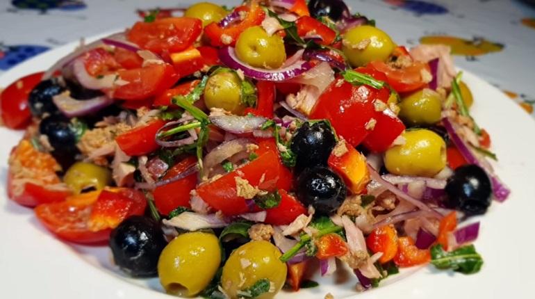 Праздничный салат из тунца: на скорую руку