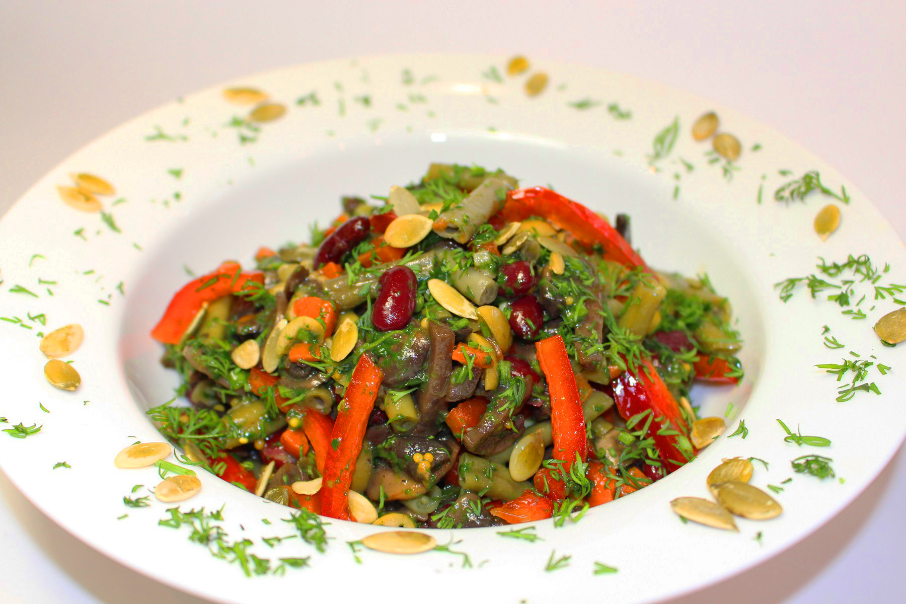 Вкусный постный салат «Три сезона»: когда хочется праздника
