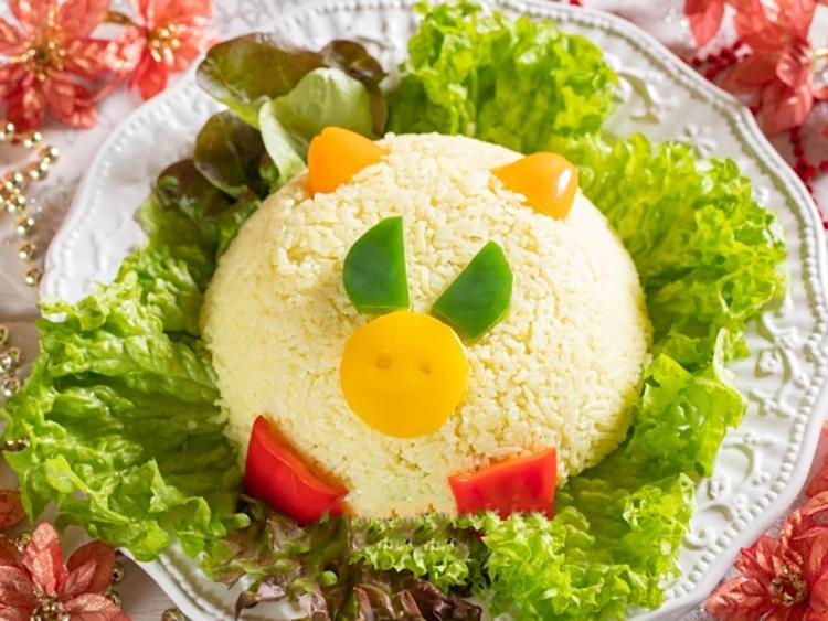 Бомбезный рисовый салат на Новый год