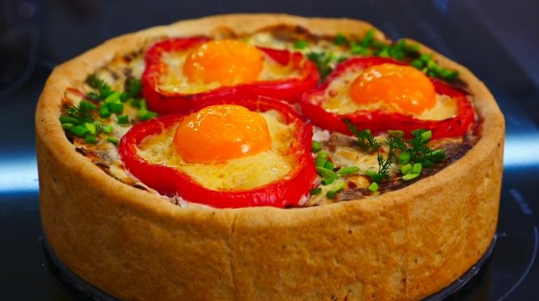Закусочный мясной пирог: красота на праздничном столе