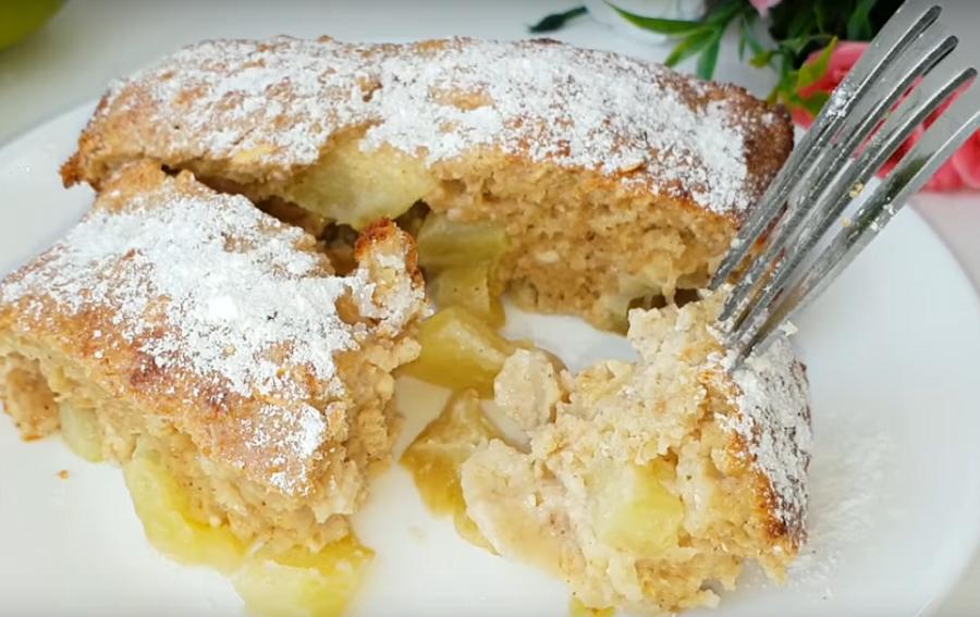 Вкуснейший пирог без пшеничной муки с яблоками-ешь, хоть каждый день