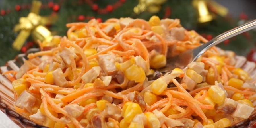 Самый быстрый салат, готовится за 5 минут с нарезкой