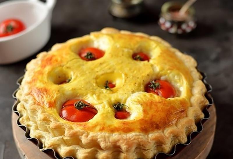 Простой и вкусный тарт с помидорами