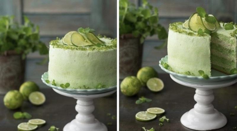 Оригинальный зеленый торт