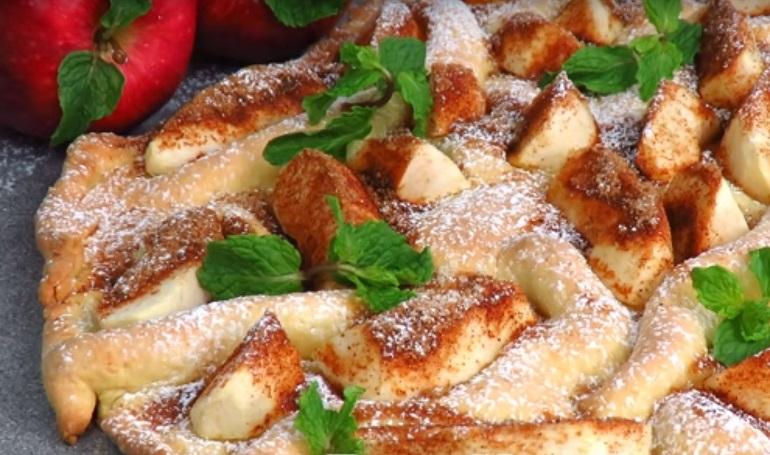 Бесподобный пирог «Яблочная волна»: делаем на скорую руку