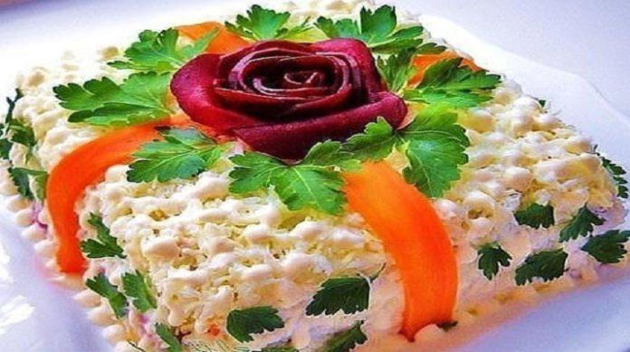 Очень вкусный праздничный салат «Вдохновение»