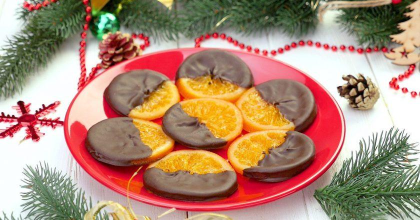 Восхитительно вкусные апельсины в шоколаде