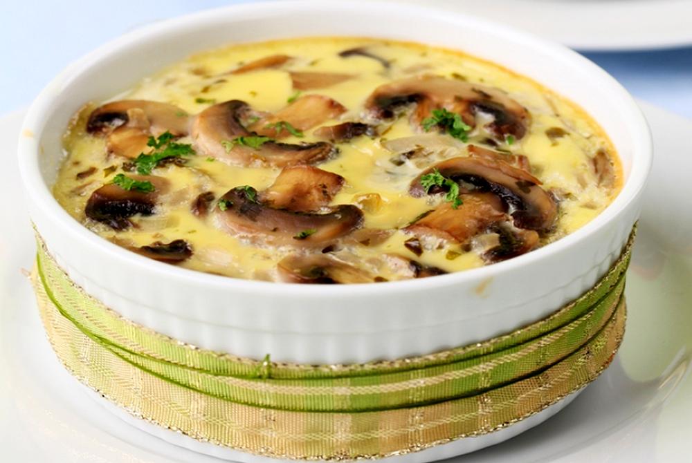 Диетическое блюдо: грибы в йогурте