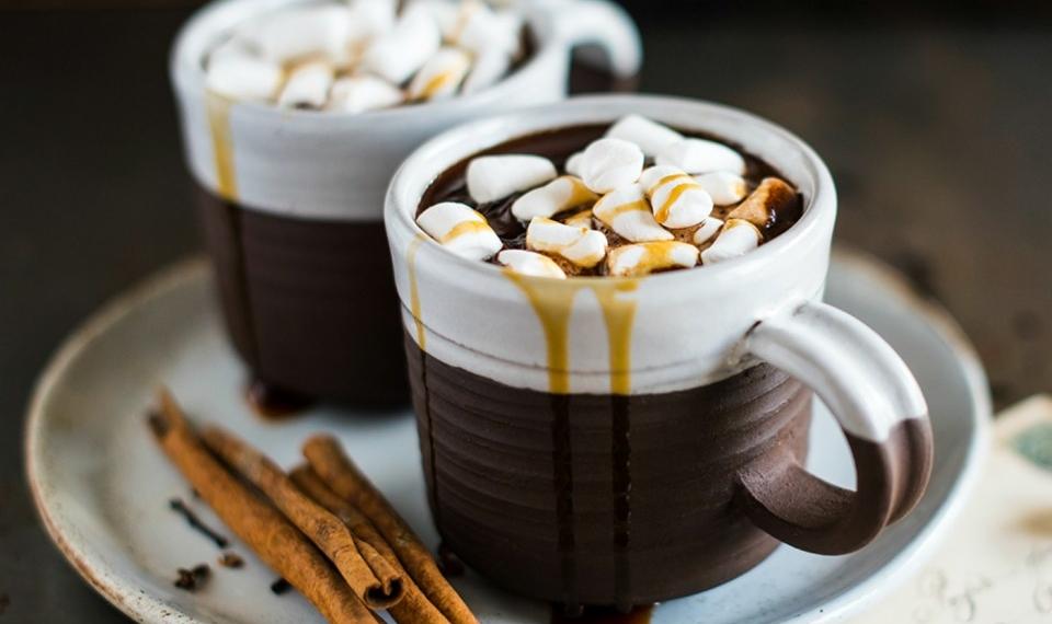 Отличный утренний напиток - горячий шоколад