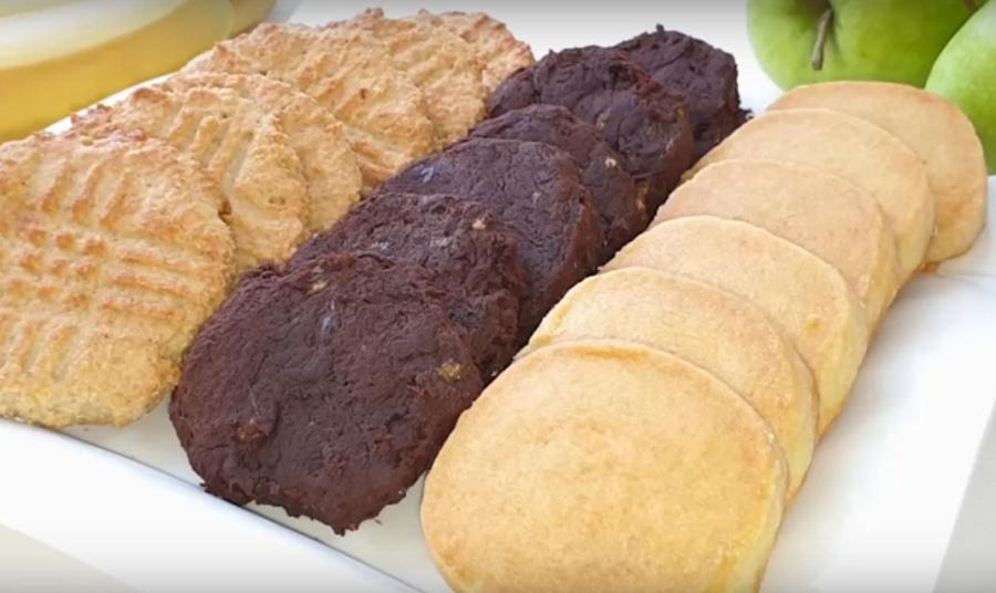 Печенье-три простых рецепта из 3 ингредиентов