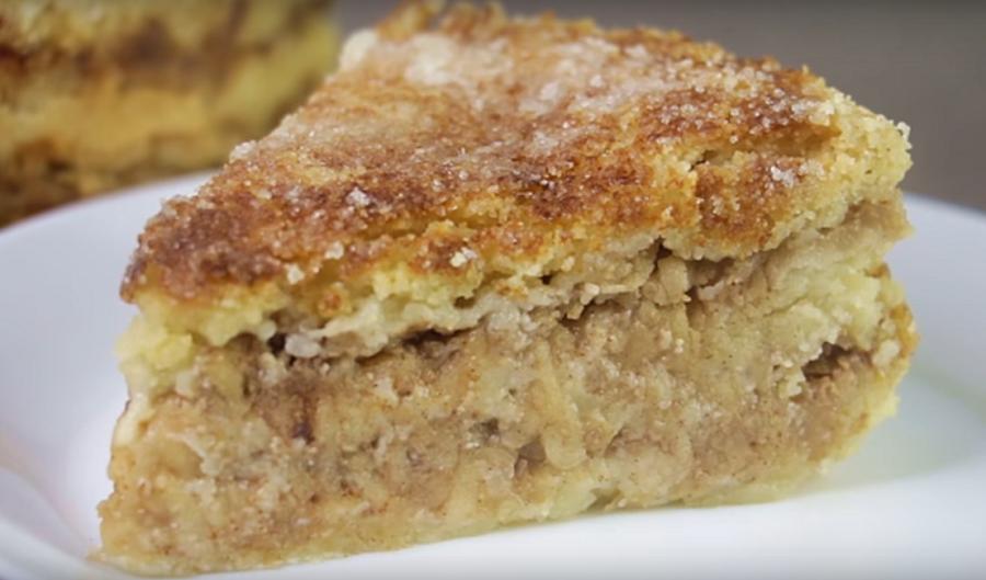 Шикарный яблочный насыпной пирог