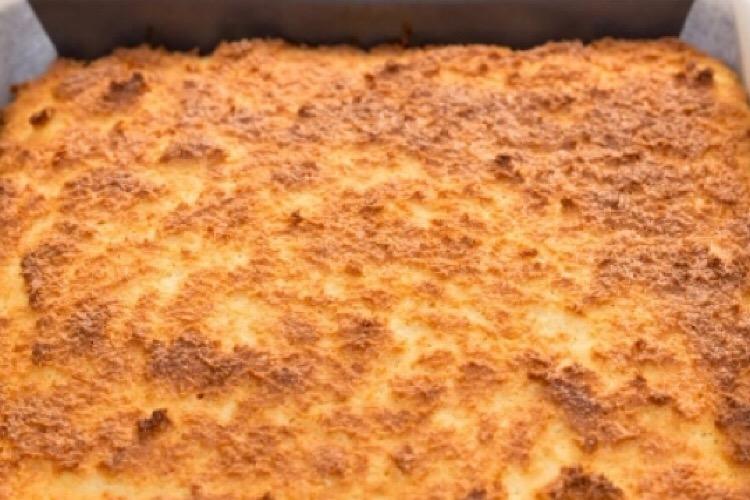 Бесподобный кокосовый пирог без муки