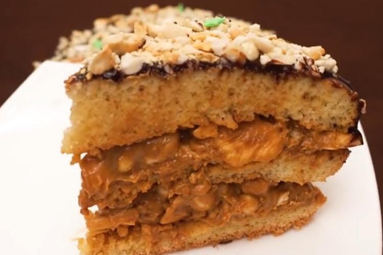 Готовим в мультиварке: отменный арахисовый торт