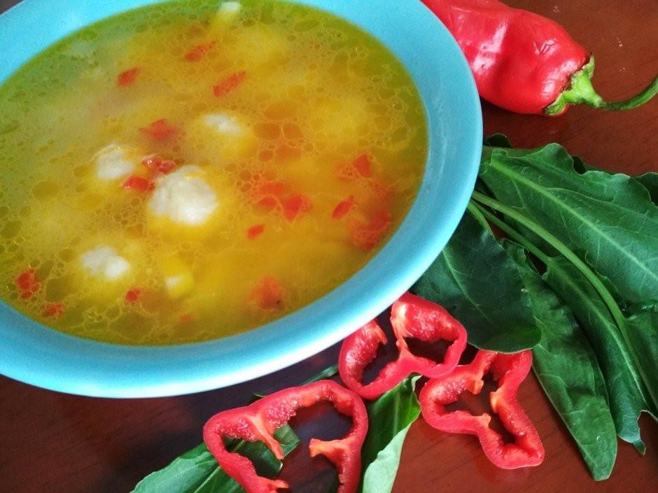 Шикарный овощной суп с сырными шариками