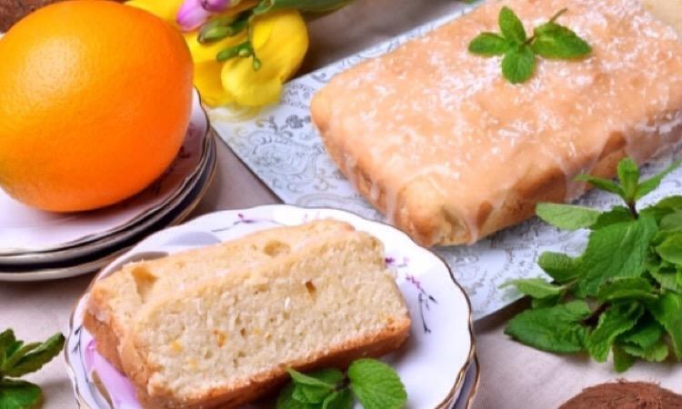 Восхитительно вкусный постный кокосово-апельсиновый кекс