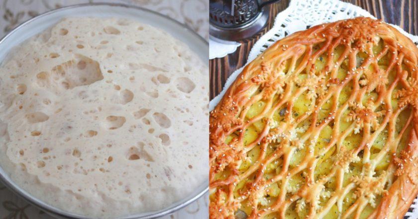 Бесподобный дрожжевой пирог с картофелем