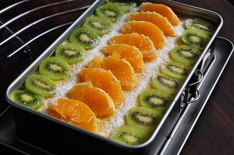 Обалденное постное пирожное с фруктами
