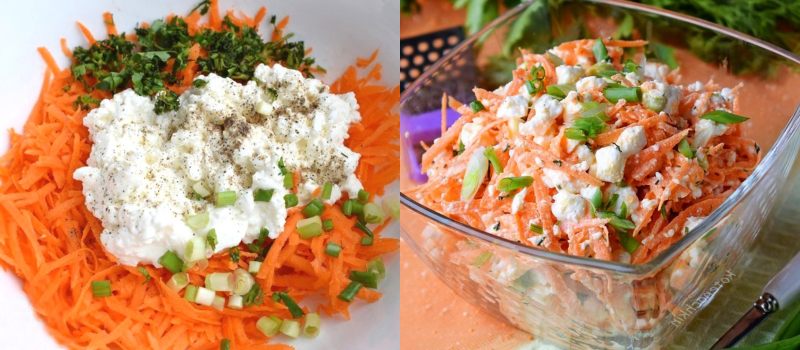 Витаминный морковный салат