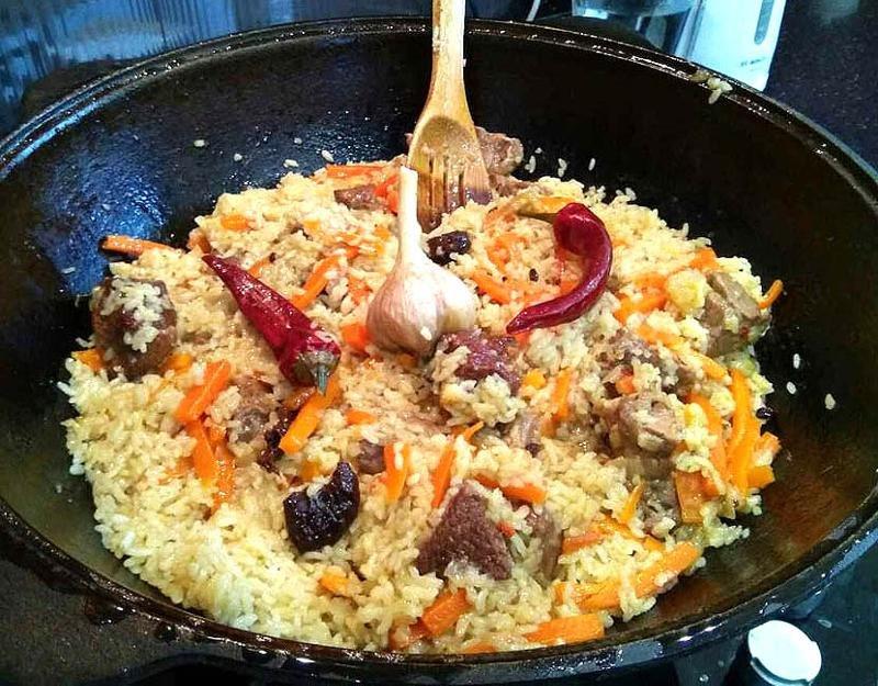 Плов из нутрии-вкусное блюдо к ужину