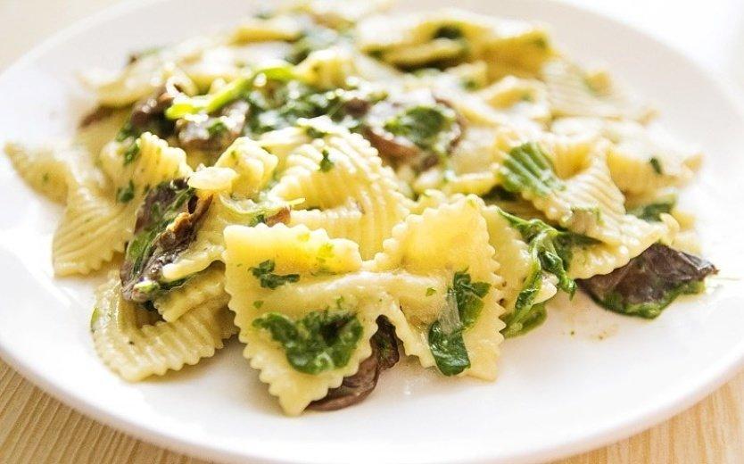Фарфалле с белыми грибами-блюдо, которое приведет вас в восторг
