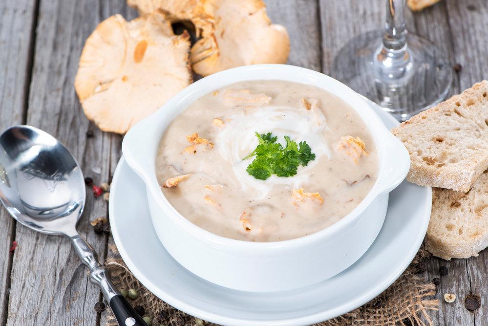 Аппетитный грибной суп-пюре со сливками