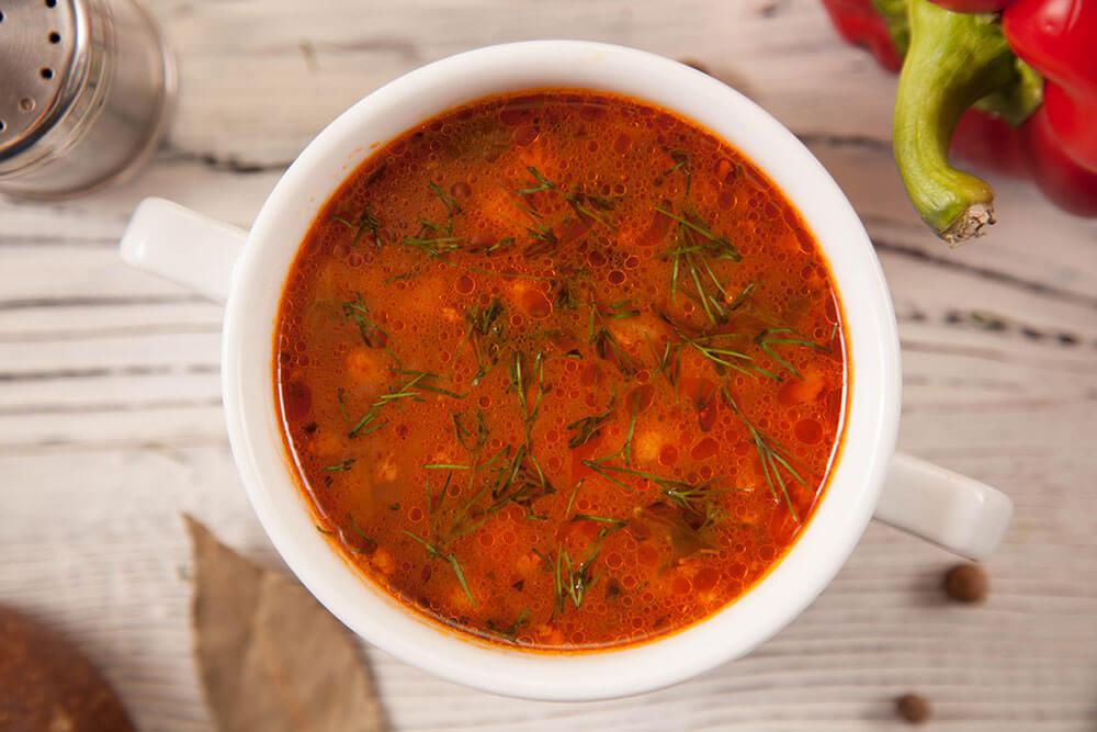 """Классический итальянский томатный суп с """"Чиабаттой"""""""