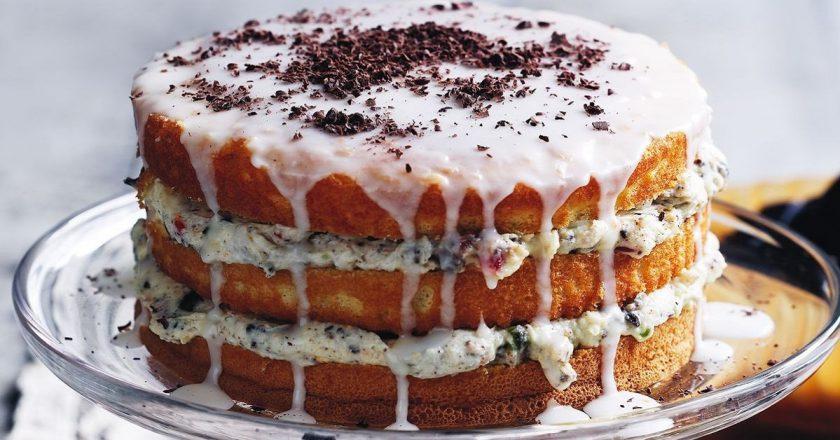 """Пышный бисквитный пирог """"Сицилийская кассата"""""""