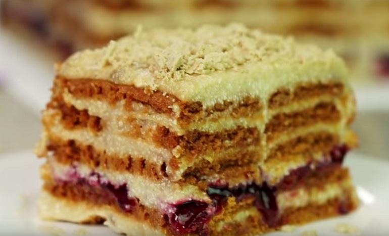 Торт с халвой без выпечки: вкусно – и не надо возиться с тестом